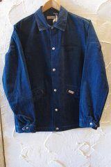 SUGAR CANE Light/11oz NEP DENIM COACH JKT  NAVY