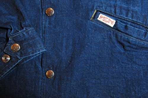 他の写真3: SUGAR CANE Light/11oz NEP DENIM COACH JKT  NAVY