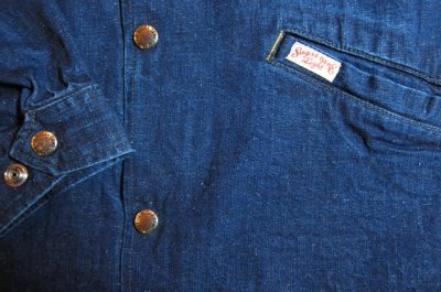 画像4: SUGAR CANE Light/11oz NEP DENIM COACH JKT  NAVY