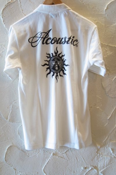 画像1: (SALE 35%OFF) ACOUSTIC/CHIEF S/S POLO WHITE