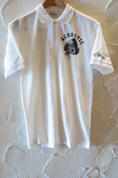 画像2: (SALE 35%OFF) ACOUSTIC/CHIEF S/S POLO WHITE