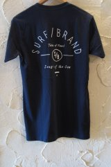 (SALE 40%OFF) SURF/BRAND/TRABEL T NAVY