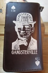 GANGSTERVILLE(ギャングスタービル)/GSV WALLET  BROWN