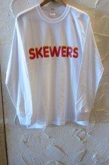 (SALE40%OFF) SKEWERS/L/S TEE  WHITE
