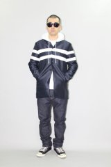 (SALE 40%OFF) INTERFACE/LINE COAT  NAVY×WHITE