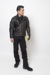 (SALE 35%OFF) RATS/SINGLE RIDERS LEATHER JKT  BLACK