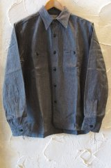 BUZZ RICKSON'S/COTTON COVERT WORK SH  BLACK