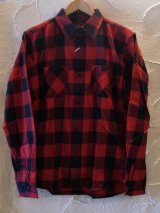 (再入荷)VINTAGE EL/BLOCK CHECK WORK SHIRTS  RED×BLACK