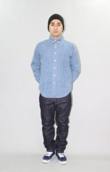 (SALE 40%OFF) INTERFACE/STRIPE DENIM B.D SH  INDxWHT