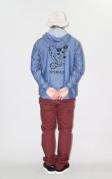 (SALE 30%OFF) INTERFACE/SNAKE HOODED CHAMBRAY SH  WASH