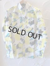 FTC/PRINTED FLORAL B.D SHIRTS  WHITE