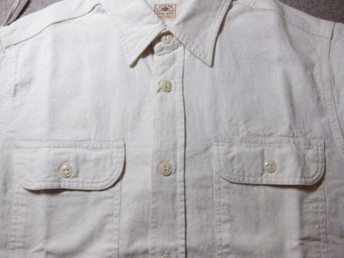 他の写真2: SUGAR CANE/WHITE CHAMBRAY S/S WORK SHIRTS WHITE(OFF)