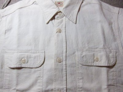 画像3: SUGAR CANE/WHITE CHAMBRAY S/S WORK SHIRTS WHITE(OFF)
