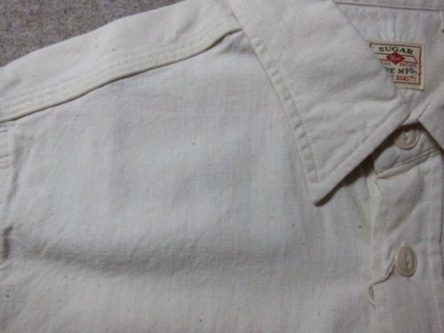 他の写真3: SUGAR CANE/WHITE CHAMBRAY S/S WORK SHIRTS WHITE(OFF)