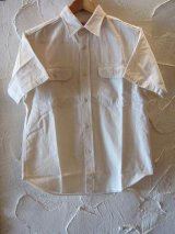 SUGAR CANE/WHITE CHAMBRAY S/S WORK SHIRTS WHITE(OFF)