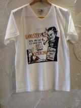 (SALE 30%OFF) GANGSTERVILLE(ギャングスタービル)/HELL SMOKING T  WHITE