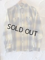 VINTAGE EL/NELL CHECK WORK SHIRTS  YELLOW