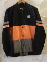INTERFACE/COTTON SUEDE JKT  BLACKxORANGE