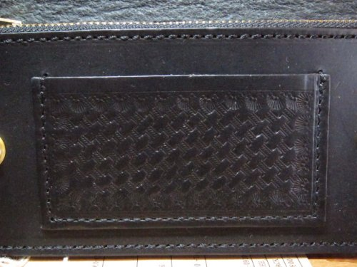 他の写真2: RATS/LEATHER WALLET DOUBLE CONCHO  BLACK