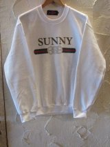 (SALE35%OFF) SUNNY C SIDER/G SUNNY SWEAT  WHITE