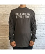 (SALE 30%OFF)BILL BOARD/LONG  SLEEVES T NEW YORK  CHARCOAL