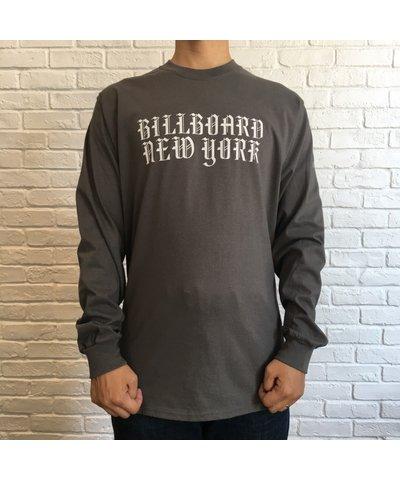 画像1: (SALE 35%OFF)BILL BOARD/LONG  SLEEVES T NEW YORK  CHARCOAL