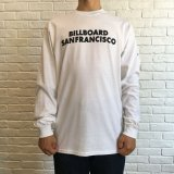 (SALE 30%OFF)BILL BOARD/LONG  SLEEVES T SANFRANCISCO  WHITE