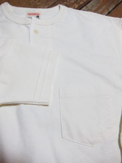 画像5: GLAD HAND(グラッドハンド)/HALF SLEEVE HENRY POCKET T  WHITE