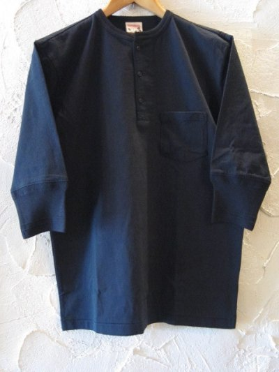 画像1: GLAD HAND(グラッドハンド)/HALF SLEEVE HENRY POCKET T  BLACK