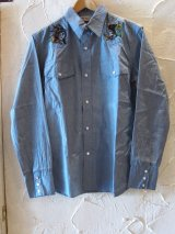 (SALE 35%OFF) SOFTMACHINE/STEVE SHIRTS  BLUE