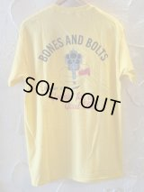 (SALE 35%OFF) BONES AND BOLTS/TEE GOOD TIME  YELLOW