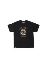 BILL BOARD/PRINT T SHIRTS JACK&ROSE  BLACK