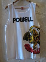 (DEAD STOCK)POWELL/TANK TOP CABALLERO  WHITE