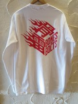 BONES AND BOLTS/LST FLAMES BOX LOGO  WHITE
