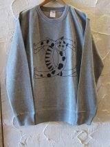 STAR STAR/CC CAT CREWNECK  M.GRAY