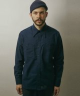 BELAFOTE/RT  TRIPLE STITCH FLANNEL  NAVY