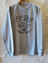 (SALE 30%OFF) ACOUSTIC/EL PASO CREW SWEAT  GRAY
