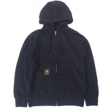 RATS/FLEECE ZIP PARKA  BLACK