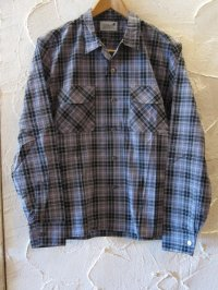 (DEAD STOCK)COREFIGHTER/CHECK OPEN SHIRTS  BLACK