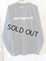 CARHARTT/LONG SLEEVE LOGO T  BLACK