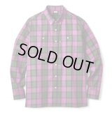 FTC/PLAID TWILL B.D SH  PURPLE