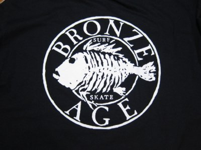 画像4: BRONZE AGE/PRINT LONG T LOGO  BLACK