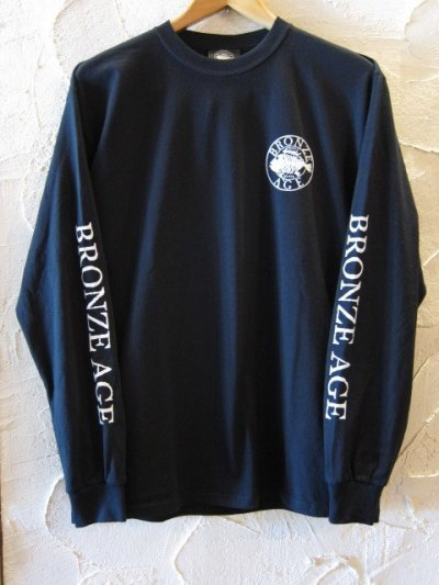画像2: BRONZE AGE/PRINT LONG T LOGO  BLACK