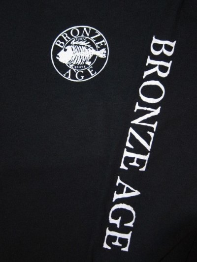 画像3: BRONZE AGE/PRINT LONG T LOGO  BLACK