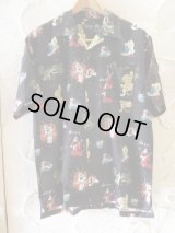 (再入荷) VINTAGE EL/JAPAN ALOHA SHIRTS  BLACK