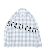 ROTTWEILER/CHECK OPEN COLLAR LS SHIRT  BLUE