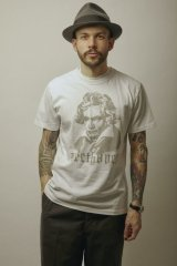 BELAFOTE/RT BEETHOVEN PRINT T  WHITE