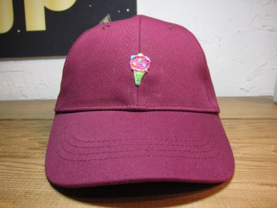 画像1: BELIVE/LOW CAP WAPPEN  ICE CREAM  BURGUNDY