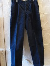 (SALE 30%OFF) BELAFOTE/RT 2TACK CORDUROY TROUSERS  NAVY