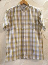 (DEAD STOCK)COREFIGHTER/CHECK S/S SH  YELLOW